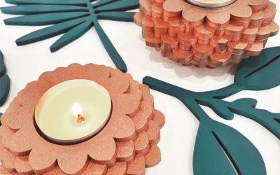 Objetos decorativos de madera